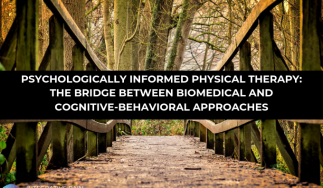 Psychologically Informed Physical Therapy: The Bridge Between Biomedical and Cognitive-Behavioral Approaches
